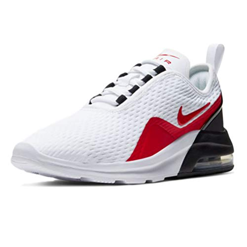 Nike AIR MAX Motion 2 (GS) Straßen-Laufschuh, White/University RED-Black, 38 EU