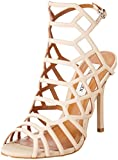 Steve Madden Women's Slithur Dress Sandal, Blush Nubuck, 7.5 M US