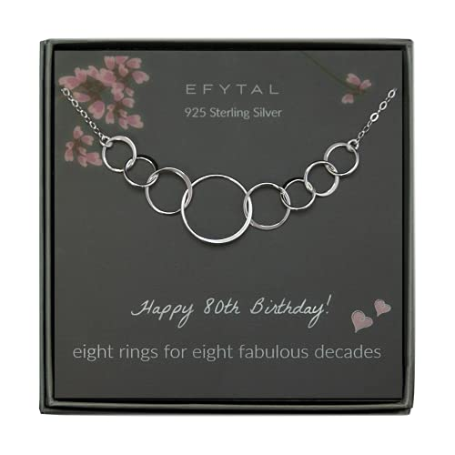 Sterling Silver Eight Circle Necklace for Her