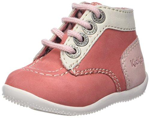 Kickers Bonbon, Stiefel & Stiefeletten Unisex Baby, Pink - Rosa, Weiß, Hellrosa. - Größe: 23 EU