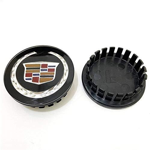 4 tapas de cubo de centro de coche para Cadillac Escalade Ct CT5 XT5 XTS XLR BLS SLS STS ATS Tiburon Seville, 67mm centro de rueda logo insignia etiqueta forma de neumático