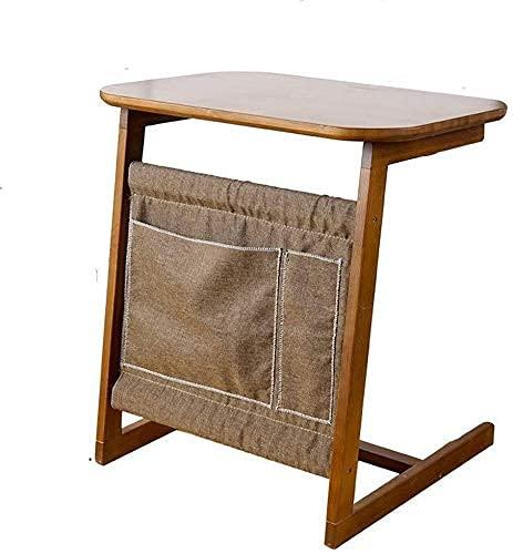 Mesa de centro mesa de café mesa de centro mesa de café TV Bandería Bandera de bambú Notebook escritorio de la computadora Sala de estar con una bolsa de almacenamiento Movable Soporte para el hogar M