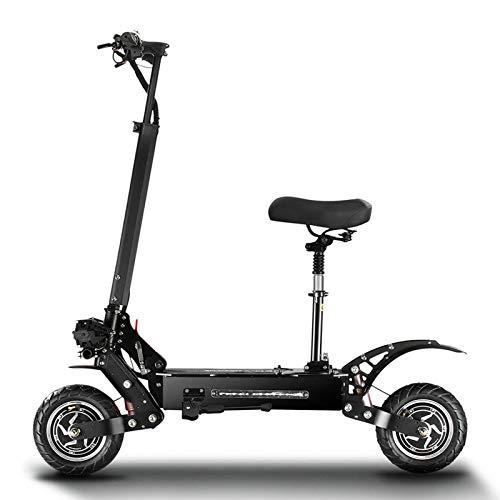 ZLYJ Patinete Electrico Adultos, Patinete Electrico,Potencia Motores Duales de 2800 W, 85km/h 100 Km Alcance, Scooter Electrico Portátil Plegable