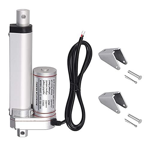 Actuador Lineal Motor,Motor eléctrico lineal actuador,DC 24V 100mm Actuador lineal recto,Accionador lineal de carrera eléctrica duradero de alta resistencia,para uso electrónico,médico