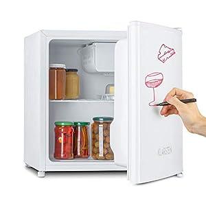 KLARSTEIN Spitzbergen - réfrigérateur, compartiment congélateur, design ZestfulART: porte inscriptible avec marqueur, compartiment de porte, congélateur, capacité 40L - blanc