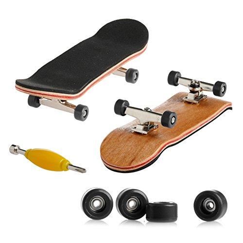 Morningmo Mini-Griffbrett, 1 Set Holzdeck Griffbrett Finger Skateboard Sport Spiele Kinder Geschenk Ahornholz Set