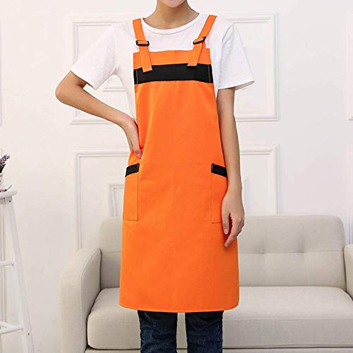 YXDZ Küchenschürze Chinesisches Restaurant Blumenmaniküre Obstladen Italienisches Restaurant Wohnzimmer Arbeitskleidung Paar Schürze Orange