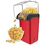 BGSFF Máquina de Palomitas de maíz de Aire Caliente, máquina de Palomitas de maíz eléctrica doméstica de 1200w, con Taza medidora y Tapa extraíble, para reuniones Familiares y Noches de