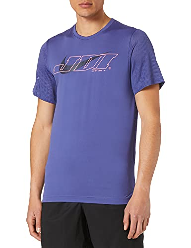 NIKE M NK Top SS SC T-Shirt, dk Purple Dust/(Midnight Navy), Mens
