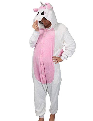 Adulte Kigurumi Unisexe Anime Animal Costume Cosplay Combinaison Pyjama ou Déguisement - Licorne...