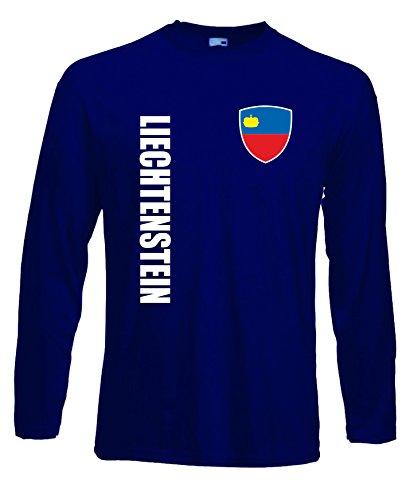 aprom Liechtenstein Langarm T-Shirt Trikot LS-Spa Navy Longsleeve (L)