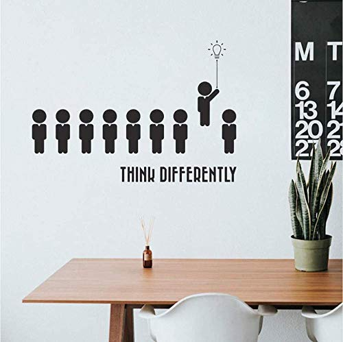 Wandtattoos Wandsticker 82X57cm Think Different Home Office Quote Wall Decal Room Space Decor Bedroom Vinyl Kids Room Removable Wallpaper