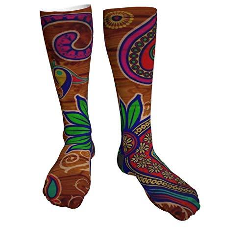 Paisley Wood Rustic Vintage winter Fashion Socks Soft Warm Cozy casual socks