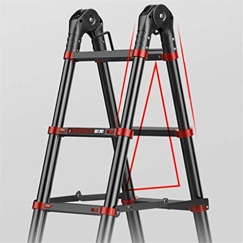 LADDERS Folding Ladder Telescopic Luminum, Multi Purpose Portable Extension Ladders Engineering Ladder for Home Loft Office,4.1M