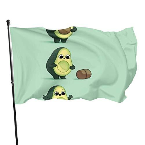 Hao-shop decoratieve vlag, avocadokleuren, glanzend, decoratie voor thuis in de open lucht, banner teken