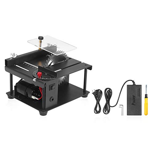 sazoley Mini Precision Table Saws, Multi-Functional Table Saw with Saw Blade Adjustable-Speed 0°-90° Angle Adjustment...