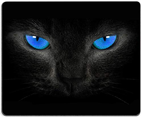 Mouse Pad, Cool Cat Mouse Pad, Blue Eyes MousePad, Gaming Mouse Mat, Square Waterproof MousePadNon-SlipRubberBaseMousePadsforOffice HomeLaptopTravel,9.5'x7.9'x0.12'Inch