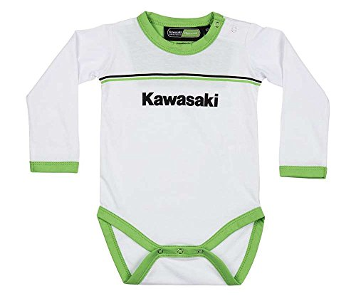 Kawasaki Sports - Body para bebé (manga larga), color blanco y verde Blanco 92 cm