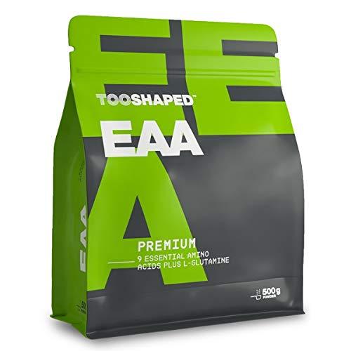 TOOSHAPED EAAs, Essentielle Aminosäuren für Muskelaufbau und Regeneration nach dem Sport, 500g Post Workout EAAs Pulver, Lemon Iced Tea Geschmack, Vegan