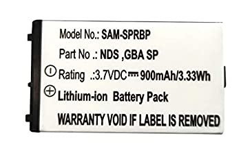 GBA SP Battery Replacement for Nintendo Advance SP AGS-001 SAM-SPRBP AGS-003 Battery