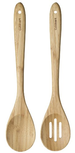 Cuisinart Green Gourmet Bamboo Solid and Slotted Spoons, 2-Pack