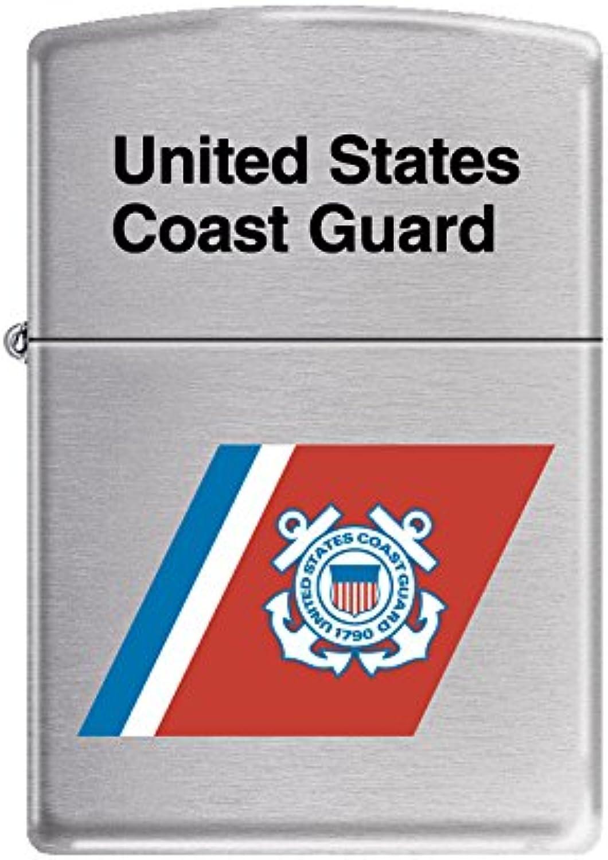 Zippo USCG Flag Brushed Chrome Pocket Lighter