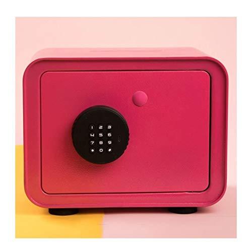 Hucha caja fuerte Contraseña de la carpeta hucha, Caja de seguridad for adultos hucha caja de almacenamiento, de acero inoxidable Llave Caja de almacenamiento de gran capacidad de tres colores Huchas
