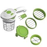 UKKD Picadora de Verduras Cortador De Vegetales De Acero Inoxidable Rápido 5 En 1 Cocina De Cocina Multifuncional Cortador De Vegetales Slicer-5In1
