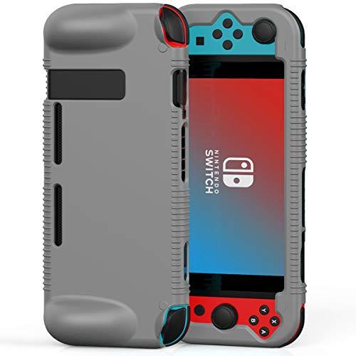 Semeving Coque de protection en silicone souple compatible avec Nintendo Switch, absorption des chocs et anti-rayures (gris)