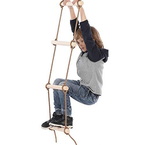 DUTUI Escalera De Madera para Niños De Cinco Velocidades, Parque De Diversiones Al Aire Libre, Ejercicios De Equilibrio para Niños, Confianza En El Equilibrio