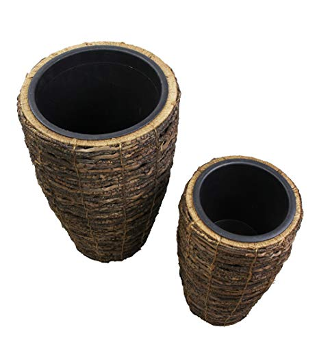 FRANK FLECHTWAREN Lot de 2 cache-pots en noix de coco