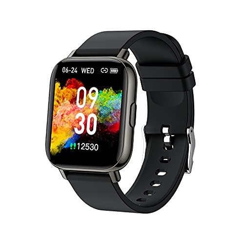 Smartwatch, Herren Damen 1.69-Zoll Touchscreen Smart Watch, IP68 Wasserdicht Fitnessuhr 24 Sportmodi Sportuhr Fitness Tracker mit Schrittzähler Pulsmesser und Schlafanalyse, Armbanduhr für Android iOS