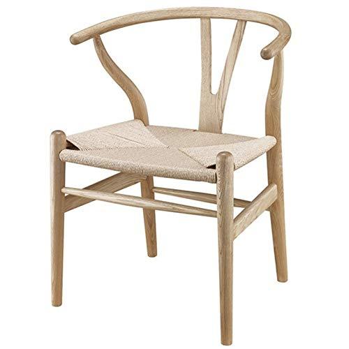 AIJIANG Sedia Wishbone in Legno, Sedia Y Sedia in Legno Massello di Rovere Mobili per Sala da Pranzo Sedia da Pranzo di Lusso Poltrona Design Classico Sedia da Pranzo (Color : A)