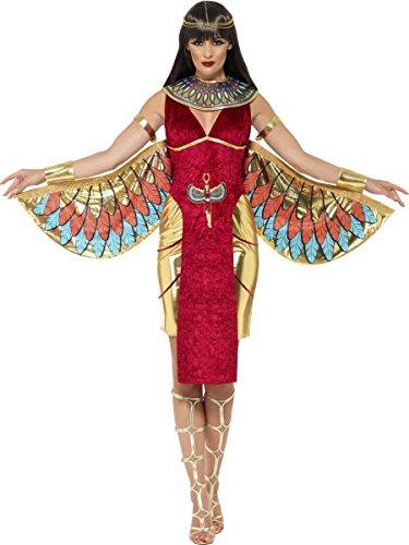 Smiffys Costume Dea Egizia, comprende Abito, Ali, Collare e Copricapo
