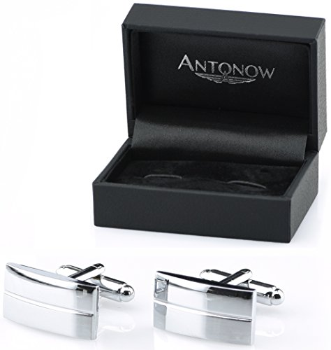 Antonow - Edle Herren Maschettenknöpfe zur Hochzeit in Silber und Box