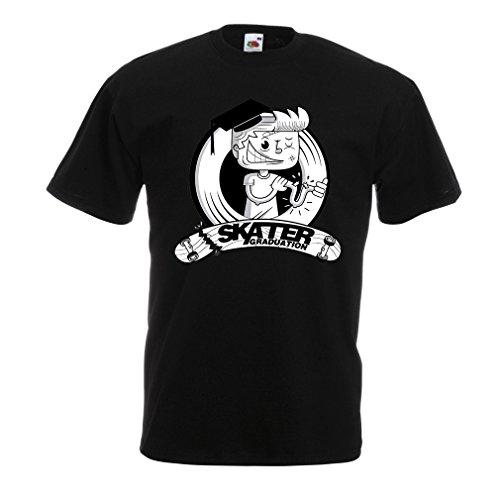 lepni.me Männer T-Shirt Pro Skate Academy für Skater, Longboard, Geschenk für Skateboarder (Large Schwarz Mehrfarben)