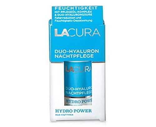 LACURA Duo Hyaluron Nachtpflege, reichhaltige Pflege mit Feuchtigkeitsspeicher 50 ml