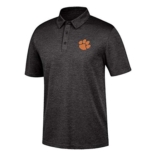 Top of the World Clemson Tigers Men's Dark Heather Carbon Polo, Large