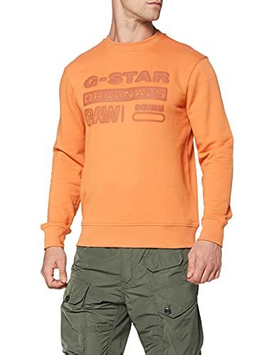 G-STAR RAW Originals Logo Sudadera, Light Pasta A613-c425, M para Hombre