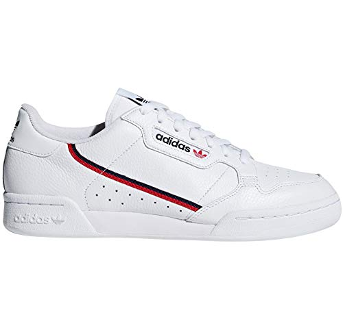 adidas Continental 80 Blancas, Zapatillas Deportivas para Mujer. Sneaker. Tennis Originals Authentic (38 EU, White/Scarlet/Collegiate Navy Pr)