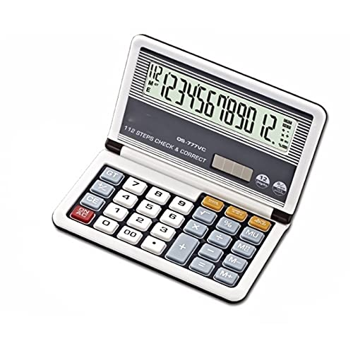 WXIANG Electrónica de Oficina Calculadora Oficina de Negocios Calculadora Flip Plegable Estudio Calculadora científica Solar Dual Power Calculadora financiera Desktop Calculator (Color : C)