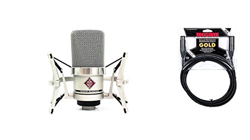 Neumann TLM 102 Microphone Studio Set Nickel Bundle with Premium 15-foot XLR Mogami Gold Cable (2 Items)