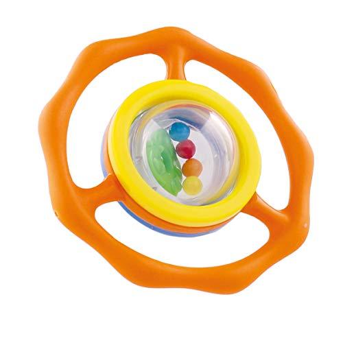 BIECO 27000025 Greif - et anneau de dentition avec des jouets de Aktivity hochet à billes intégré pour les bébés et les tout-petits, orange