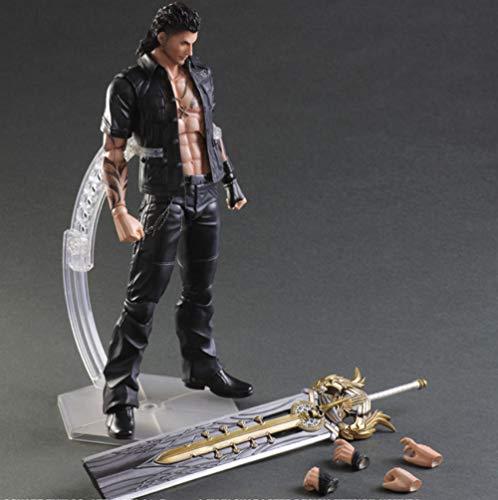 VENDISART Final Fantasy Play Arts Kai Action Figure Gladiolus PVC Toy 25cm Anime Movie Model Final Fantasy 15 Playarts Kai