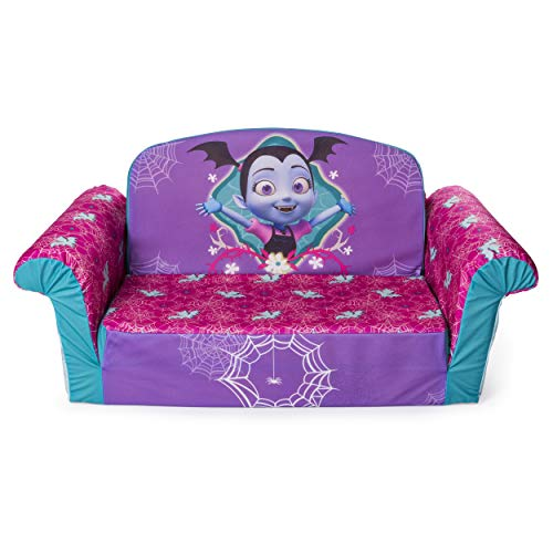 Marshmallow Furniture 2-in-1 Flip Open Couch Bed Sleeper Sofa Kid's Furniture for Ages 2 Years Old and Up, Vampirina