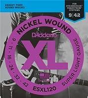 D'Addario ESXL120 ニッケル ダブルボールエンド Super Light(09-42) ESXL-120 【国内正規品】