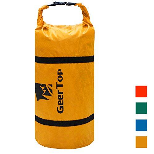 GEERTOP 20D Ultraleichte, wasserdichte verstellbare Nylon-Zelt-Kompressionstasche, geeignet für 2–3 Personen, Gelb