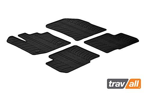 Travall Mats Gummifußmatten Kompatibel Mit Dacia Lodgy (Ab 2012) TRM1206 - Allwettermatten Nach Maß Fussmatten Set