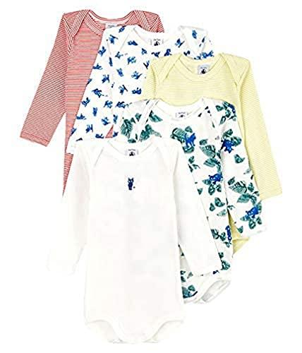 Petit Bateau 5942700, Lot de 5 bodies pour bébé garçons, Mul