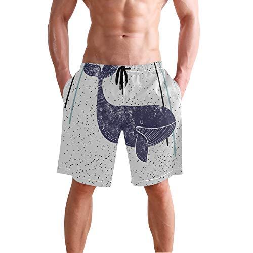 Lindo Fish Ocean Animal de los Hombres de Natación Trunks Pantalones Cortos de Playa Boardshort 2030451 - - Small